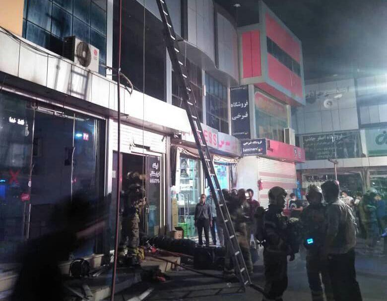 خبرنگاران شهادت آتش نشان حین عملیات اطفای حریق در جنوب تهران