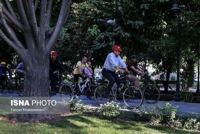 احداث رینگ جزیره ای دوچرخه سواری در پارک ها و مدارس تبریز