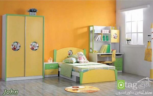 دکوراسیون و چیدمان سرویس خواب اتاق کودک با رنگهای شاد