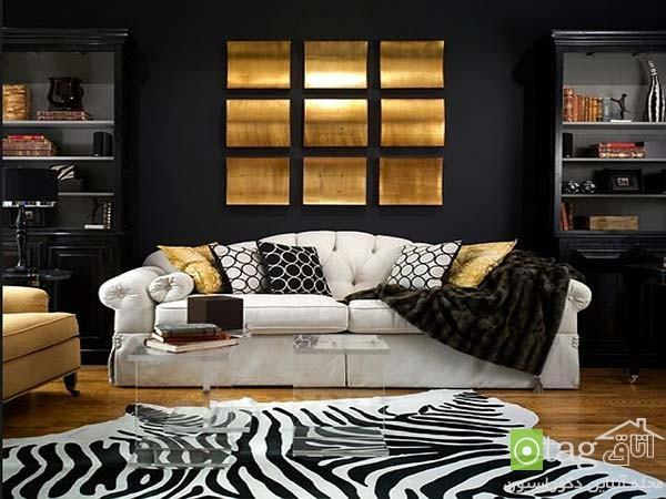 دکوراسیون سیاه و طلایی ، مدلی بسیار زیبا در طراحی داخلی منزل