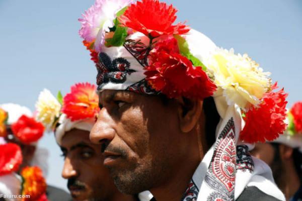 (تصاویر) جشن ازدواج 40 داماد نابینا در یمن