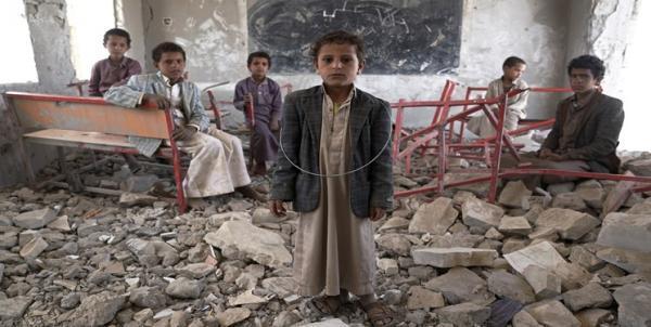 جمعی از بچه ها یمن علیه سازمان ملل تجمع و بیانیه صادر کردند