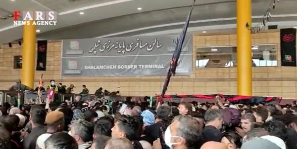 مجروح شدن 40 زائر به دلیل ازدحام در مرز شلمچه